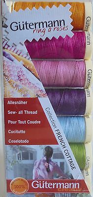 Gutermann Sew-All-Thread Set/pack   'french Cottage'  7 Warm Colours