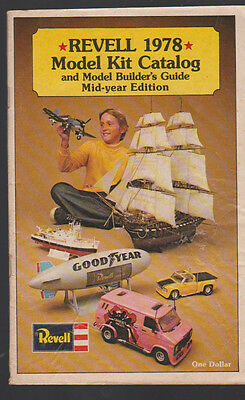 Revell 1978 Model Kit Catalog & Model Builders Guide Mid-Year Edition