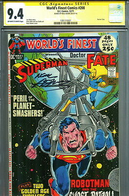 CGC SS 9.4 SIGNED Neal Adams Art World's Finest #208 Superman & Doctor Dr Fate