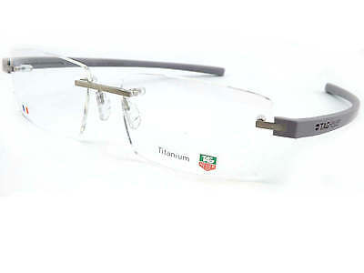 TAG HEUER rimless 56mm REFLEX 3 Optical Glasses Frame Pure/ Grey ArmsTH3941 011