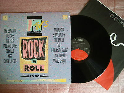 MTV´S ROCK ´N ROLL TO GO - Rare compilation   Lp  Vinyl Printed in U.S.A. 1985