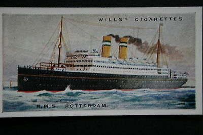 RMS ROTTERDAM   Holland America Line    1920's Vintage Card # VGC