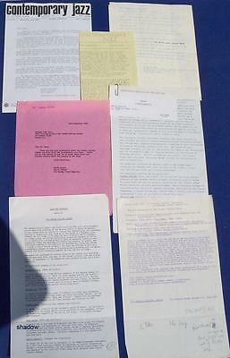 GRAHAM COLLIER * 1965-1975 PROMO ITEMS Incl SIGNED LETTERS * British Jazz