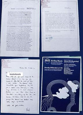 NEIL ARDLEY * 1971-1979 PROMO ITEMS Incl SIGNED LETTERS * British Jazz