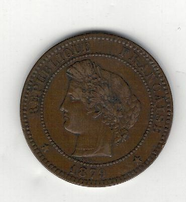 FRANCE. 1879a. 10 CENTIMES. GOOD GRADE.SEE PICTURES