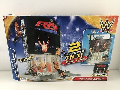WWE Ultimate Entrance Stage Playset For Wrestling Figures Ring Set - FREE UK P&P