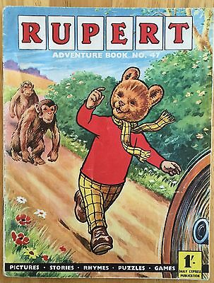 Rupert Adventure Series 47 Bestall 1962 One Puzzle Done Vg Plus