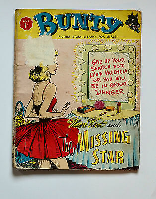 Vintage 1960s Bunty Picture Story Library Magazine Comic No. 7 Very Rare