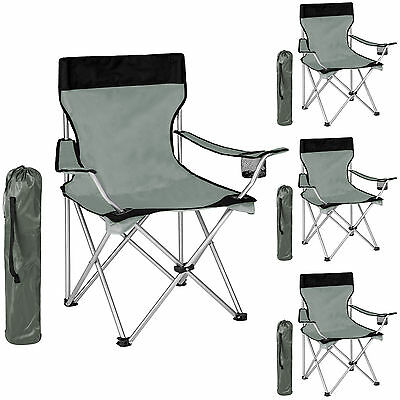 4er set campingstuhl strandstuhl klappstuhl gartenstuhl anglerstuhl grau schwarz eur 52 89. Black Bedroom Furniture Sets. Home Design Ideas