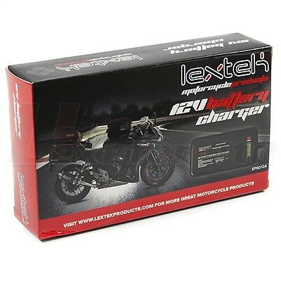 LEXTEK Motorcycle 12v Battery Optimiser Charger