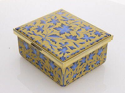 Halcyon Days Enamels Gold Leaf Museum of London Exotic Flowers Box - Brand New