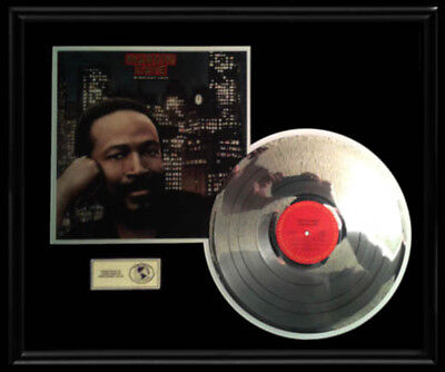 Marvin Gaye Midnight Love Rare Gold Record Platinum Disc Album Frame Lp