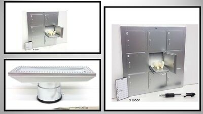 1:12 dolls house miniature mortuary refrigerator,autopsy table 3 to choose.