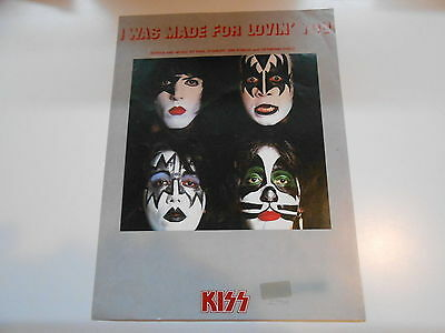 KISS ** DYNASTY - I WAS MADE FOR LOVIN ** Sheet music ** 1979' Rock Steady Music