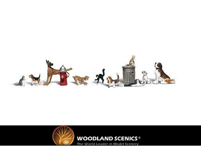 Woodland Scenics A2140 Dogs & Cats Figures N Gauge