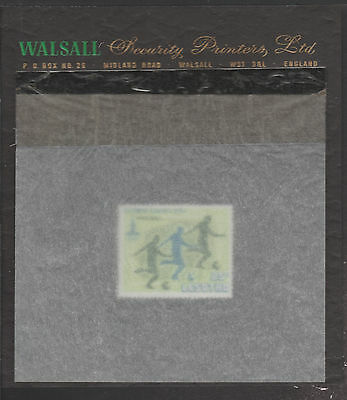Lesotho (1878) - 1980 Moscow Olympics - Football 25s essay on WALSALL PROOF CARD