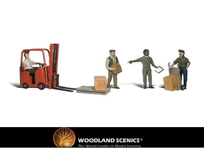 Woodland Scenics A2192 Workers With Forklift Figures N Gauge