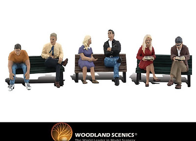 Woodland Scenics A2206 People On Benches Figures N Gauge