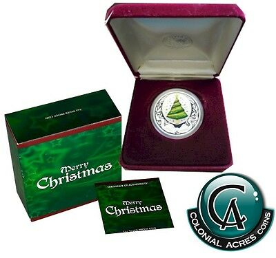 2008 Australia $1 Merry Christmas 1oz Silver Proof Coin (Tax Exempt) *
