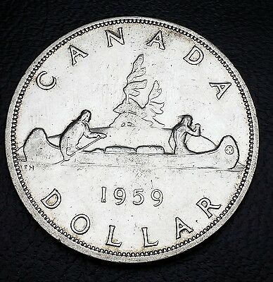 1959 Silver $1 One Dollar Canada **great Condition**- Free Combined S/h