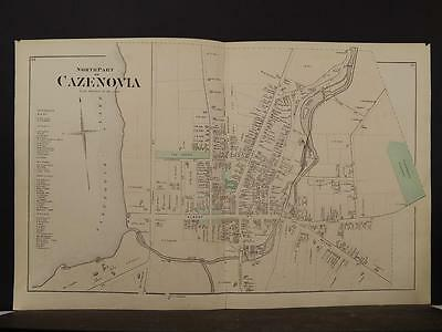 New York, Madison County Map, 1875, Cazenovia, Two Double Pages, Y4#21