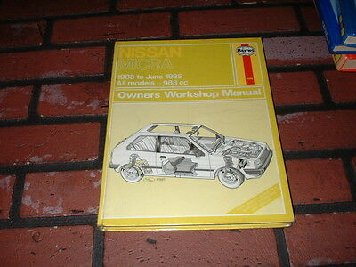 Haynes Manual For Nissan Micra K10. 1983 To 1985.
