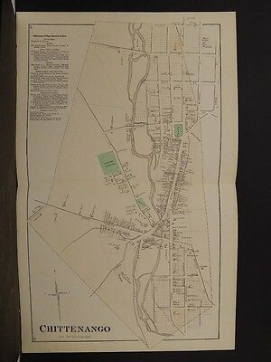 New York, Madison County Map, 1875, Chittenango, Double Page, Y4#23