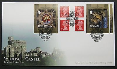 PM55 Windsor Castle Book, FIRST DAY COVER With SPECIAL HANDSTAMP 6/2/2017  ERROR