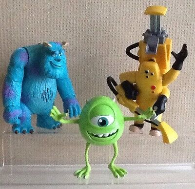 MONSTERS INC. FIGURES MIKE, SULLY & CDA with sound & movements