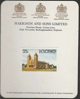 Lesotho (1891) - 1980 Christmas 25s Imperf on HARRISON PROOF CARD