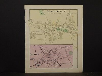 New York, Madison County Map, 1875, Morrisville, Eaton,  Y4#28