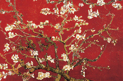 "Vincent Van Gogh art poster 24x36"" Red Almond Blossoms"