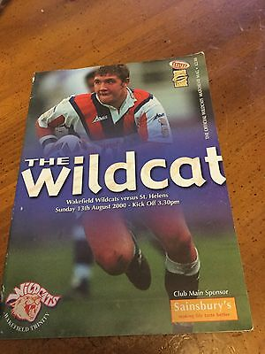 Wakefield Wildcats V St Helens 13 Aug 00 Super League