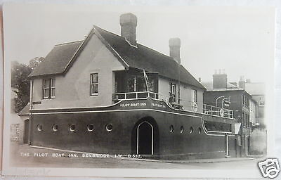 Antique The Pilot Boat Inn Bembridge Isle Of Wight Iow  Postcard - Real Photo