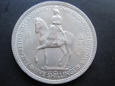 1953 Qe11 Commemorative Coronation Five Shillings Crown Coin
