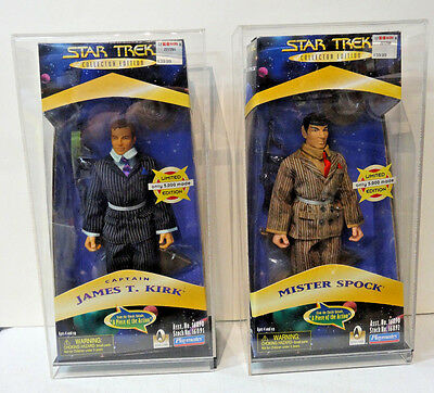 STAR TREK A PIECE OF THE ACTION CAPTAIN KIRK & MR. SPOCK ACTION FIGURES w/ cases