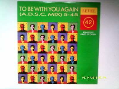 "Level 42 To Be With You Again ( A.d.s.c. Mix ) 12"" Single 1987 N/mint"