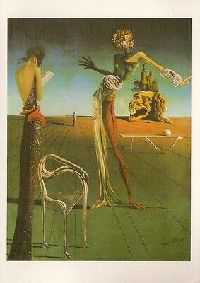Salvador Dali  Woman With Head Of Roses  Postcard