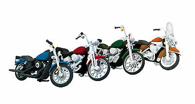 MTH 30-11085 Motorcycle set #2 4-pack