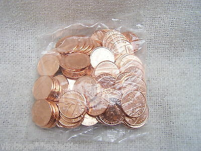 UNCIRCULATED SEALED BAG 1P ONE PENNY COIN COINS ~ 100 in TOTAL for YEAR 2016