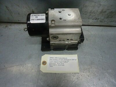 ABS Hydraulikblock Opel Vectra C 09191496 TC 74040