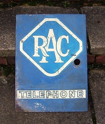 VINTAGE 1970s ROYAL AUTOMOBILE CLUB TELEPHONE SIGN - ORIGINAL RAC PHONE BOX DOOR