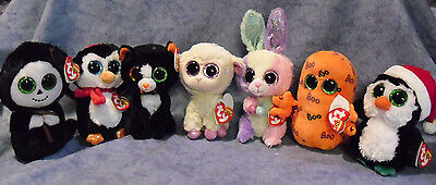 W-F-L TY Beanie Boos Easter Halloween Christmas Selection Stuffed toy