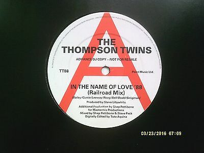 "The Thompson Twins In The Name Of Love '88 12"" Promo Single 1988 N/mint"
