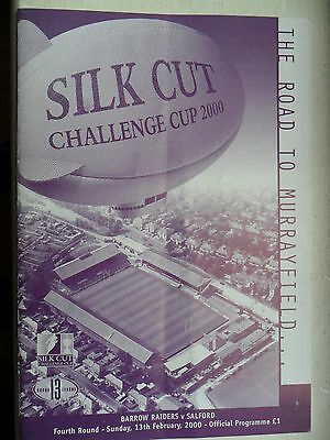 BARROW v SALFORD REDS RUGBY LEAGUE PROGRAMME~ 13th FEBRUARY 2000