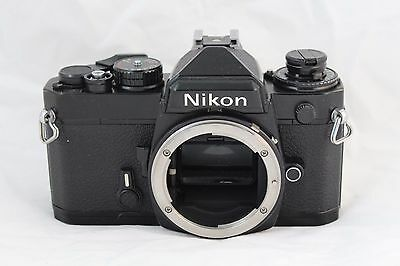 Nikon FE 35mm ALL BLACK FILM CAMERA BODY, NEW SEALS, TESTED PERFECT