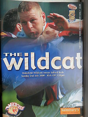 WAKEFIELD WILDCATS v SALFORD CITY REDS RUGBY LEAGUE PROGRAMME~ 2nd JULY 2000
