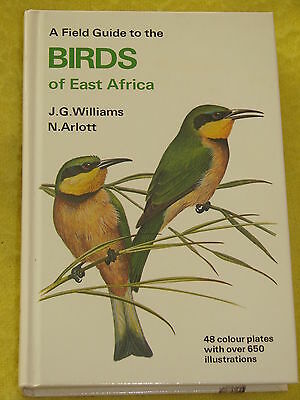 A Field Guide to the Birds of East Africa, Collins, 1989 h/b, VGC, illustrations