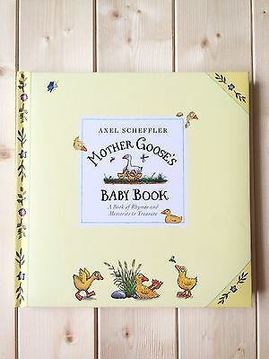 New Adorable First Year Baby Record Book Keepsake Memory Journal Mother Goose