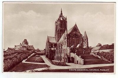 Coats Memorial Church Paisley Holmes Real Photograph Herald Series Old Postcard